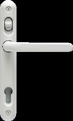 White aluminium lever handle